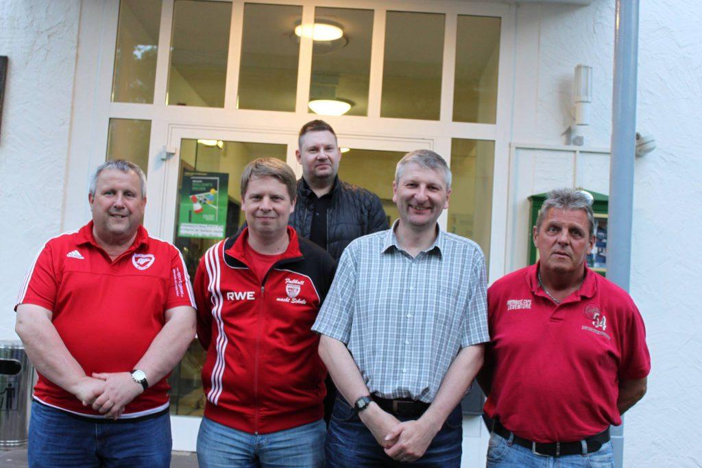 Klaus Mergen, Daniel Roselieb, Bernhard Ennen, Daniel Böhm und Hans-Werner Meyer (v.l.n.r.)