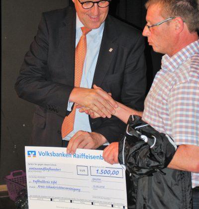 1500 Euro Spende an Eifelschiris